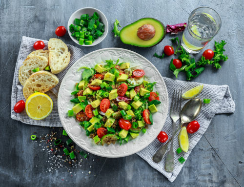 Nutritarian Cucumber Avo Salad