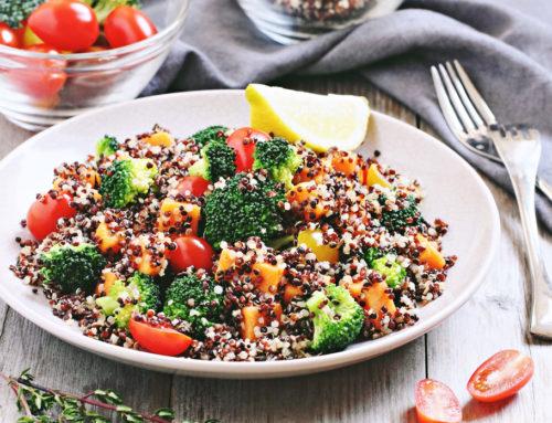Nutritarian Rainbow Quinoa Salad