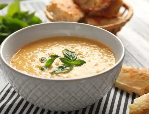 Nutritarian Lentil Cauliflower Soup